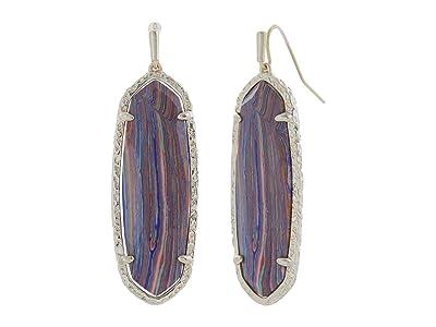 Kendra Scott Layla Drop Earrings (Gold Pink Rainbow Calsilica) Earring