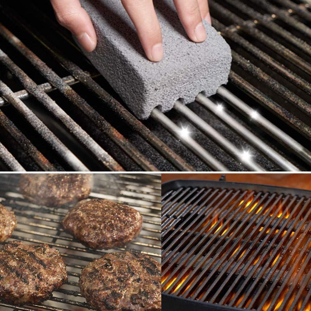 2pcs Barbecue Grill Nettoyage Brique Bloc Barbecue Nettoyage Pierre BBQ Racks Stains Cleaner Grease BBQ Outils de Cuisine Gadgets décore (Color : 2pcs) 2pcs
