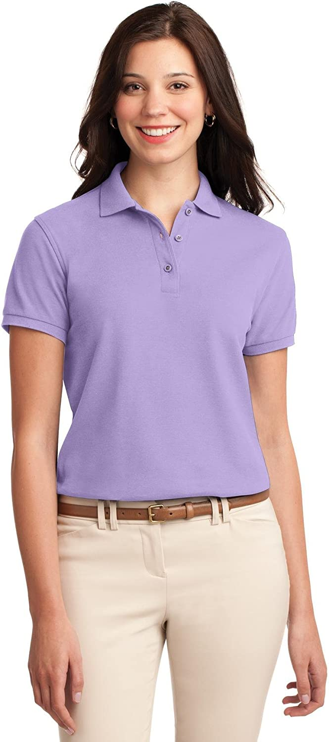 Port Authority Ladies Silk Touch Polo. L500 Bright Lavender