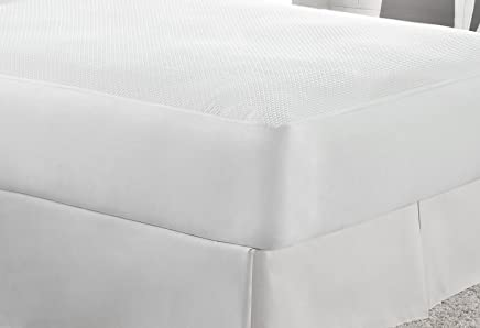 Aller-Free Ultimate Comfort Knit Mattress Protector,  King,  White