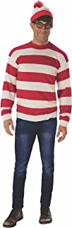 Rubie's Men's Where's Waldo Deluxe Waldo Costume Adult Sized Costumes (pack of 1)