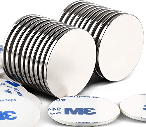 LOVIMAG Strong Neodymium Disc Magnets with Double-Sided Adhesive Powerful Rare Earth Magnets, Perfect for Fridge, DIY...