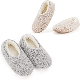 2-Pair Women's Soft Sole Slipper Socks with Grippers,...