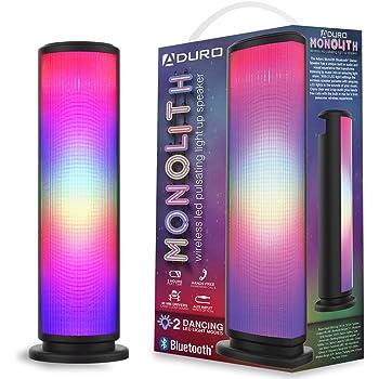 RCA Music LED Color Lightwall Sound Bar Speaker Bluetooth USB Charger, RAS1609BLE Smartphones, Tablets, mp3s Digital FM Radio -