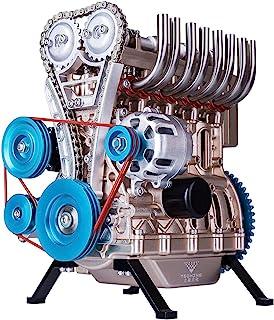 اسباب بازی بچه ماکت موتور خودرو درون سوز 4 سیلندر 16 سوپاپ تمام فلزی مدل استرلینگ رو میزی(استرلینگ نوعی موتور است).