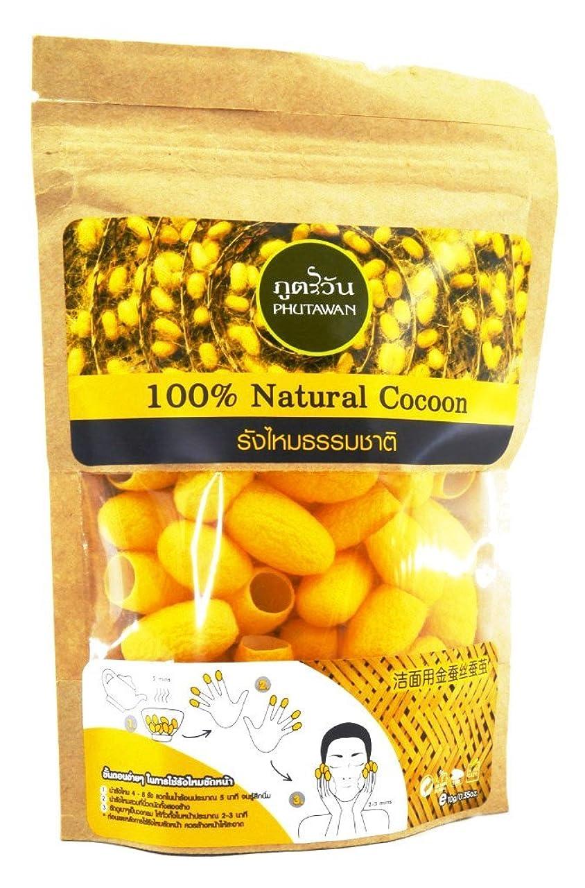 マトロン同じあいまいな黄金まゆ玉 100% Natural Cocoon 天然 黄金繭玉 約40個入