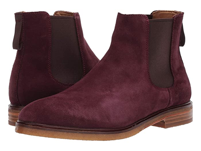 Clarks  Clarkdale Gobi (Burgundy Suede) Mens Pull-on Boots