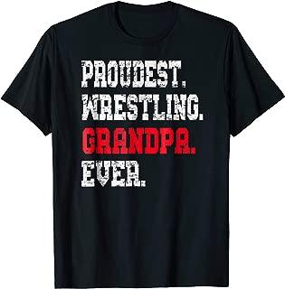 Custom Wrestling Grandpa TShirt, Best Grandpa Ever Gift