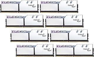 64 جيجابايت G.Skill DDR4 Trident Z Royal Silver 3200Mhz PC4-25600 CL14 1.35 فولت مجموعة قناة مثبتية (8 × 8 جيجابايت)