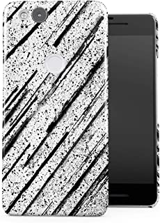DODOX Black Ink Splash & Black Pencil Brush Pattern Case Compatible with Google Pixel 2 Snap-On Hard Plastic Protective Shell Cover Carcasa