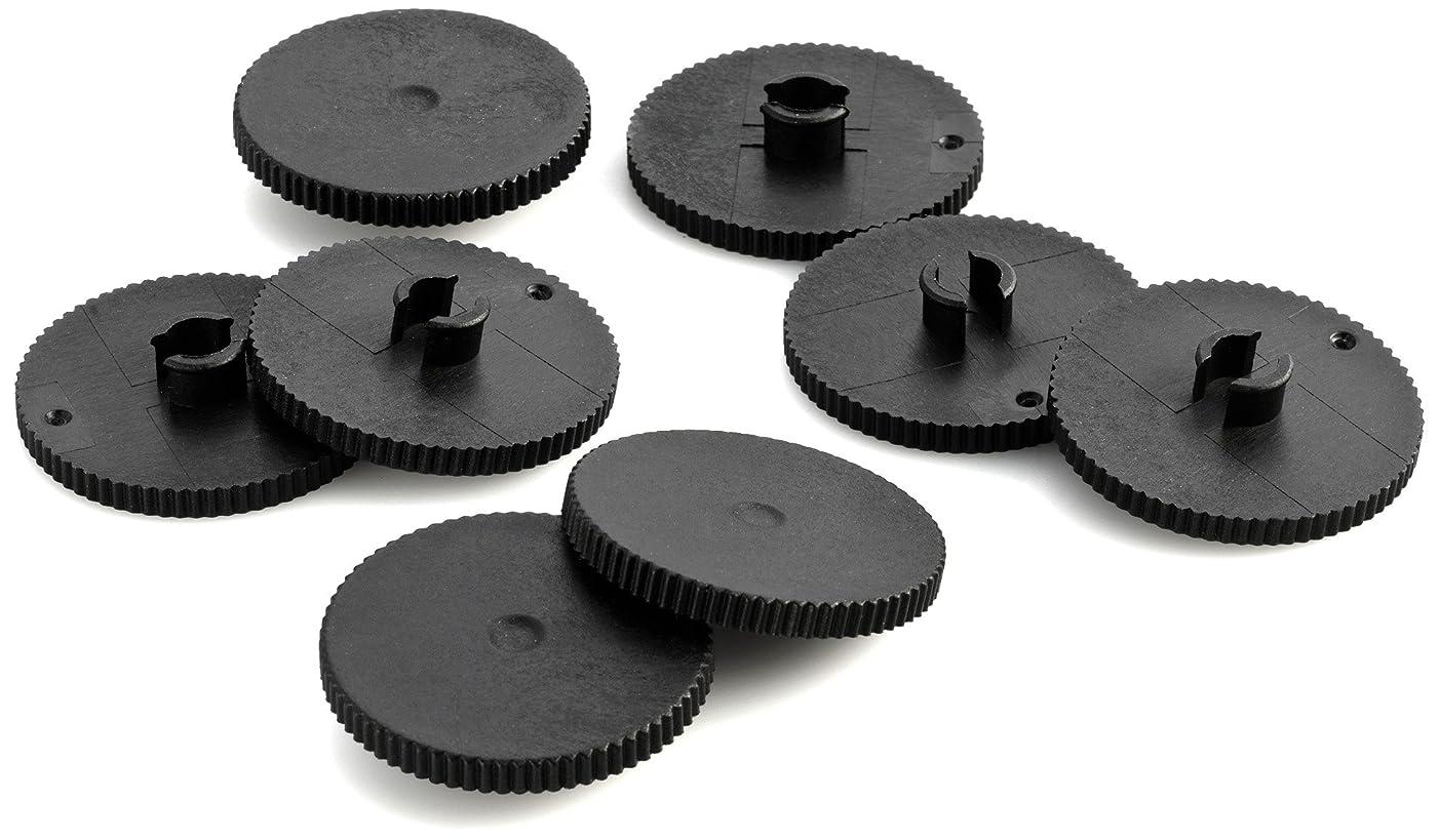 Novus B 2200 Hole Punch Replacement Discs - Black (Set of 8)