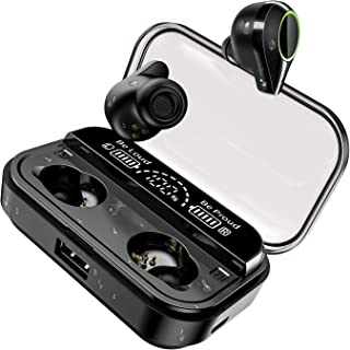 U-ROK Wireless Earphones Bluetooth 5.0 Earbuds with 4000mAh Charigng Case LED Digital Display Touch Control 90H Playtime i...