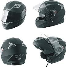 Casco Modulare Apribile Moto Touring Sport Visiera Parasole Nero Opaco M