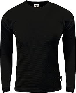 Mens Thermal Long Sleeve Crewneck Waffle Shirt XS-5XL
