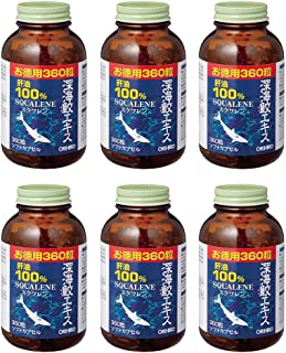 【6点セット】オリヒロ 深海鮫エキスカプセル徳用 360粒