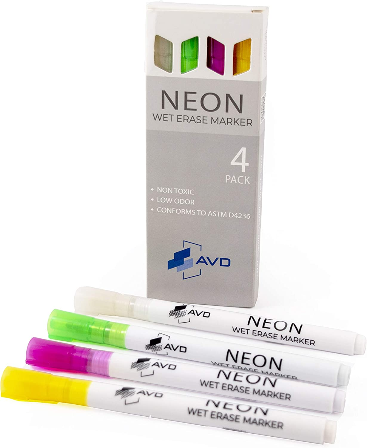 Audio-Visual Direct Max 42% OFF Neon Wet Erase 4 of Our shop most popular Markers Set