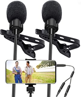Lavalier Lapel Microphone, Kuyang 2 Pack Omnidirectional...