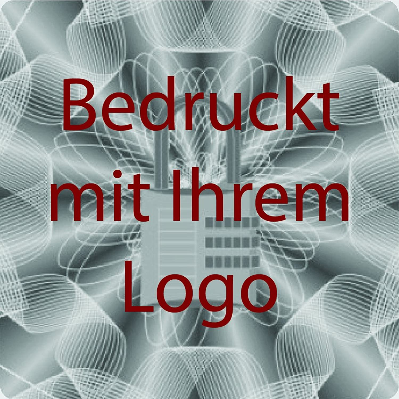 EtikettenWorld BV, EW-H-LOCK-SI-tdr-700, 700 St&uu ;ck Hologrammaufkleber, 3D, 20x20mm silberfarbige Metallfolie, bedruckt in dunkel-rot mit Ihrem Wunschtext Logo, Hologramm Etiketten, selbstklebend, Hologramm Aufkleber, Sicherheitssiegel, Garantiesiegel