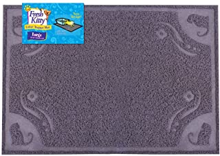 Fresh Kitty Soft Knit Easy Clean Litter Trapping Mat for Pet Cat Litter Box, Large, Grey Pattern