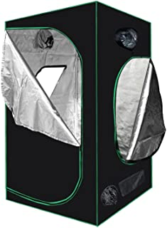 "Minerva 48"" x 48"" x 80"" Mylar Hydroponic Grow Tent for Indoor Plant Growing Including Installation Instructions"