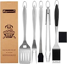 ROMANTICIST 6pc Heavy Duty Grill Accessories for Top Chef - Professional Grill Tools Set & Basic BBQ Tools for Backyard Restaurant Outdoor Kitchen - Deluxe Grill Gift for Dad on Father�s Day Birthday