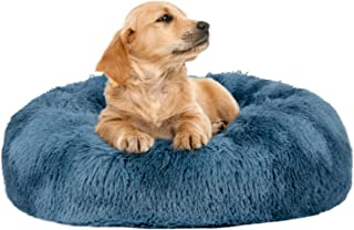 FURTIME Calming Dog Bed Cat Bed Donut Cuddler 16/20/23/30inch Round Anti-Slip Faux Fur Pet Bed for Small Medium Dogs and C...