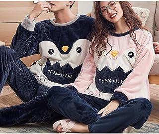 31a4dd2db7523 Automne Et Hiver Modèles Couple Pyjamas/Hiver Corail Velours Doux Épais  Chaud/Flanelle Hommes