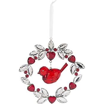 Ganz Beautiful Love and Blessings Home Decor Double Heart Ornament ~ The Heart of a Home is Love