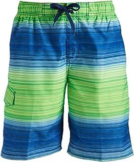 Kanu Surf Men's Haywire Stripe Quick Dry Beach Board Shorts Swim Trunk Swim Trunks