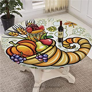 Pull rope Edged Polyester Fitted Table Cover with Pull Rope Large Round Fits tables up to 30