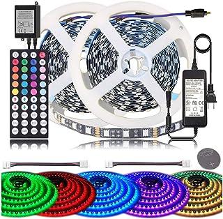 GRIFEMA DG4004, Tira de LED 3528 600 Impermeable, 10M Tira de RGB con Control Remoto, 2 x 5 m