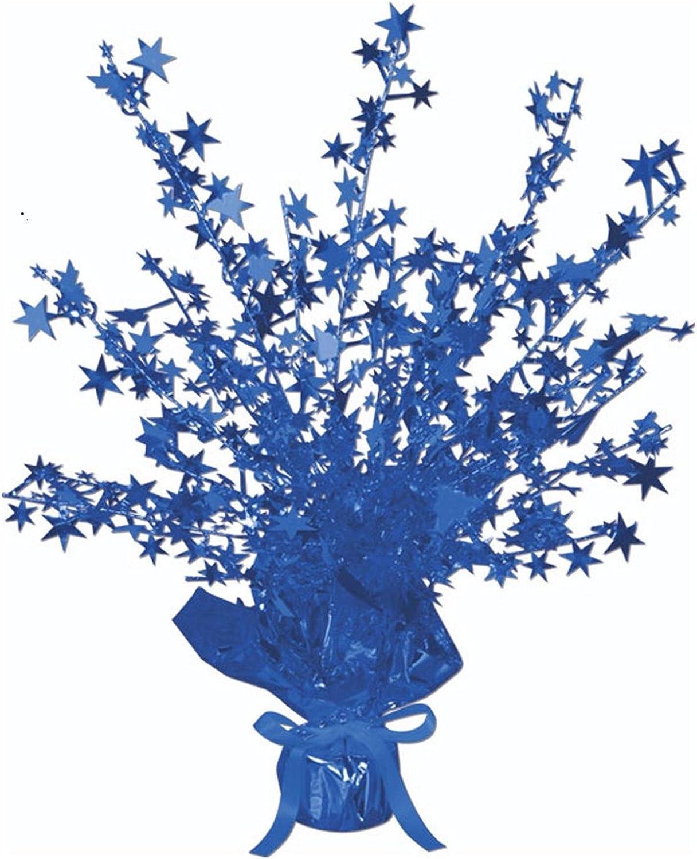 Club Club Club Pack of 12 bluee Star Gleam 'N Burst Centerpiece