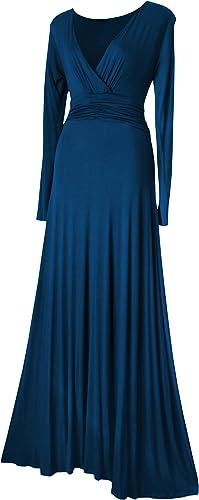 Look for the Stars Damen Kleid Maxi Langarm Langes 34-52