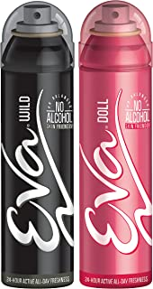 Eva Wild and Doll Perfumed Deodrant Skinfriendly Body Spray For Woman 150ml (Pack Of 2) 300 ml