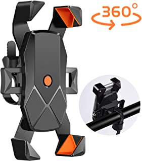 USION Bike Phone Mount, Universal Bicycle Stem Cell Phone Holder,Nylon Motorcycle Handlebar MountStable Cradle with 360° Rotation for iPhone Android GPS Other Devices from 4.7 to 7