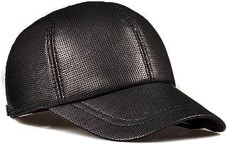 US 2019 Herren Freizeit Original Kuhleder Baseball Kappe Hut mit Ohrenschützer
