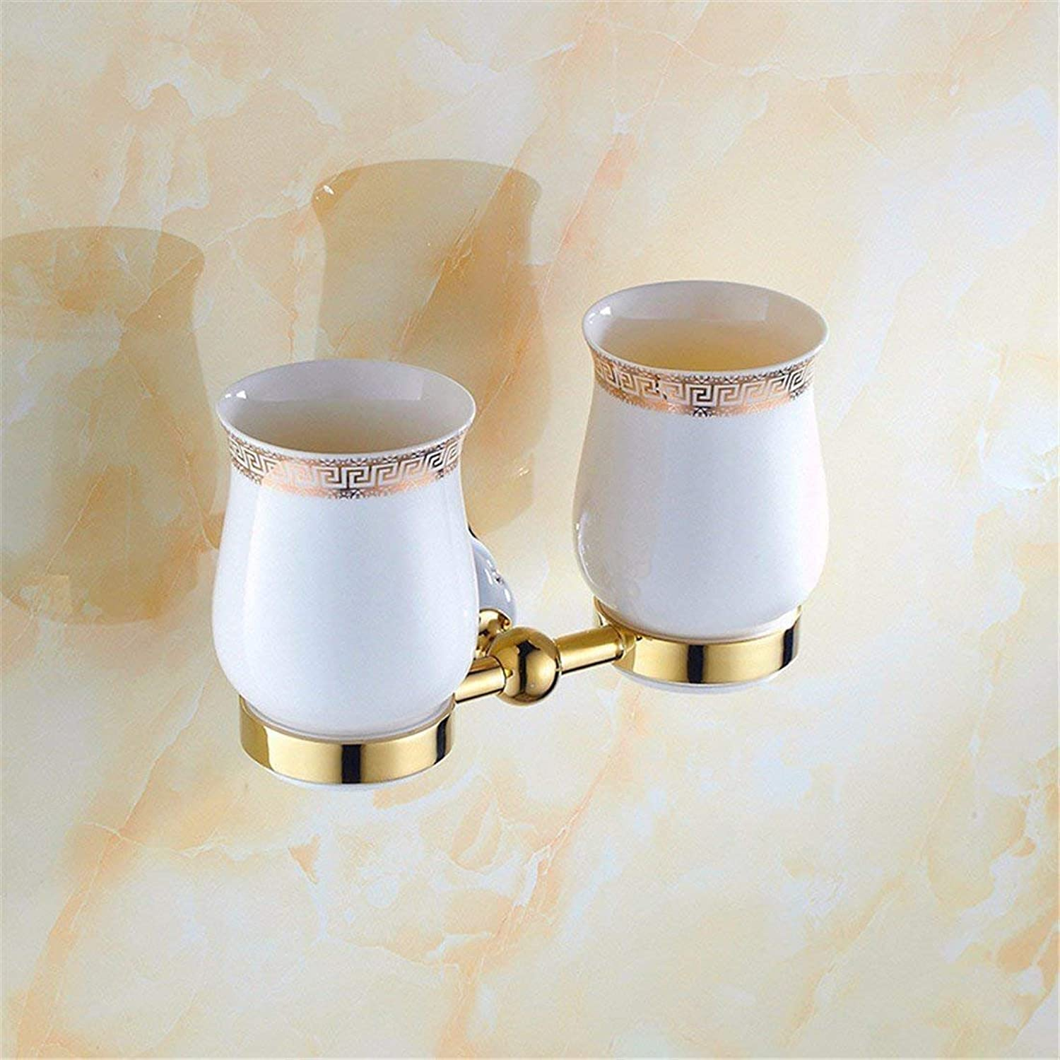The Diamond Set of gold of Christmas The Bathroom Accessories Boxes to soap in The Antiques in Stainless Steel Single Rod and Double,Double Cup