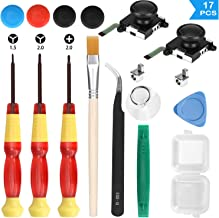 Veperain 2 Pack of 3D Analog Joystick Replacement for Nintendo Switch Joy Con Controller, with Cross & Tri-Wing Screwdrive...