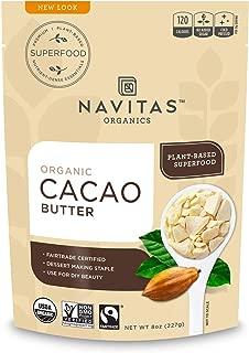 Navitas Organics Cacao Butter, 8oz. Bag - Organic, Non-GMO, Fair Trade, Gluten-Free