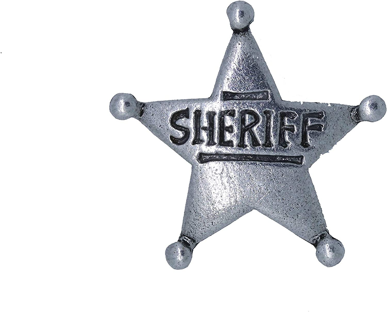 Regular dealer Jim Clift Design Sheriff Star OFFer Lapel - Pin Count 100