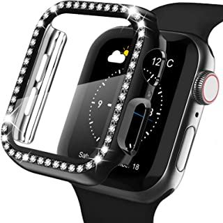 Recoppa Apple Watch Case with Screen Protector for Apple Watch 40mm Series 6/5/4/SE, Bling Crystal Diamond Rhinestone Ultr...