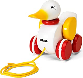 Brio Infant and Toddler Pull-Along Duck, White