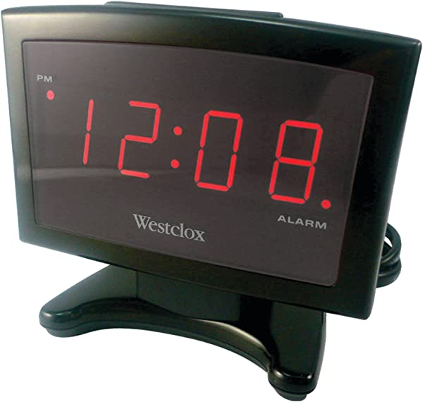 Westclox 70014 Plasma LED Alarm Clock 0 9 Inch