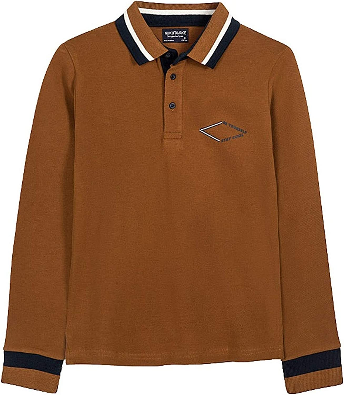 Mayoral - Polo with Back Design L/s for Boys - 7123, Brown