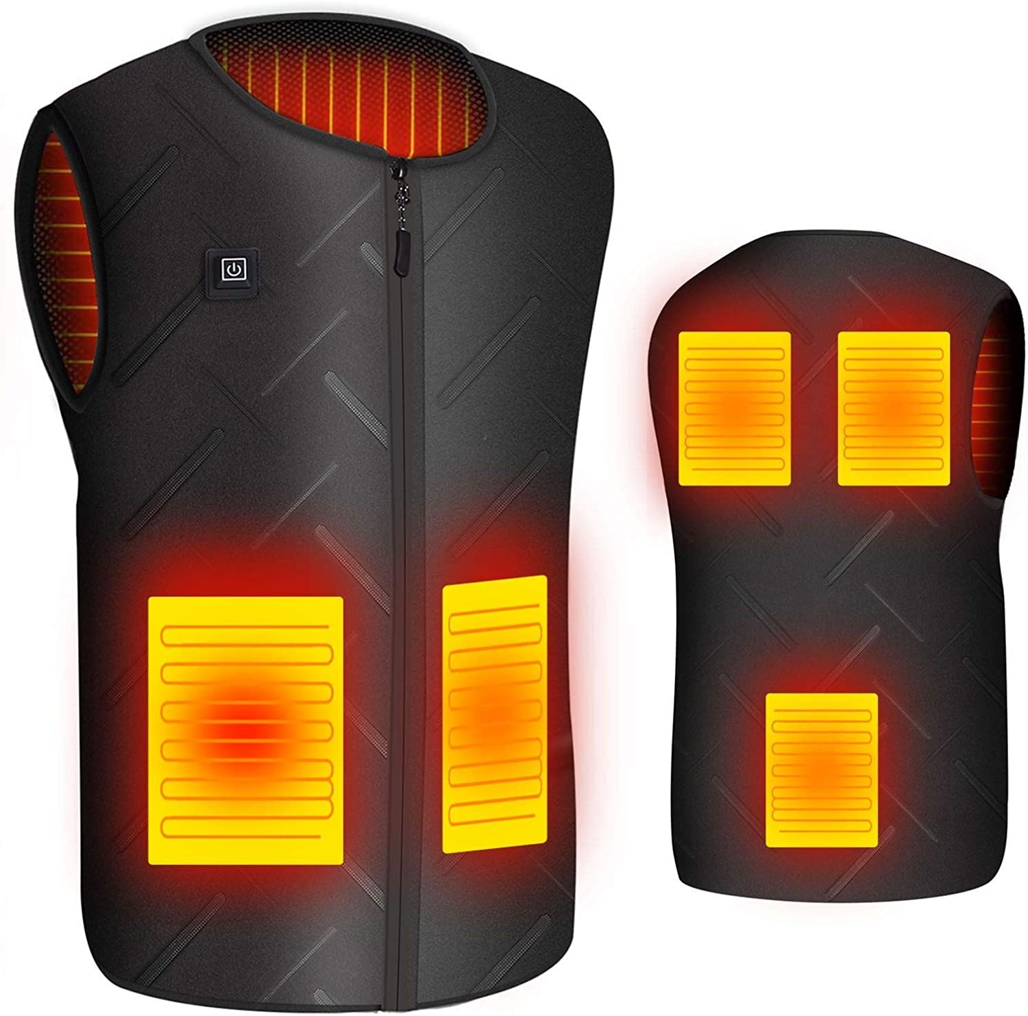 Heated Vest for Men USB Charging Heated Jacket Washable Electric Heating Coat Women Outdoor Motorcycle Riding Hunting