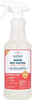 Wondercide Natural Indoor Pest Control Spray for Home and Kitchen — Fly, Ant, Spider, Roach, and Bug Killer and Repellent — 32 oz Peppermint