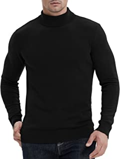 NITAGUT Men's Casual Slim Fit Basic Sweaters Knitted Thermal Turtleneck Pullover Sweater