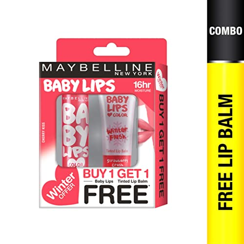 Maybelline New York Winter Promo, Cherry Kiss, 4g with Free Strawberry Crush, 9ml