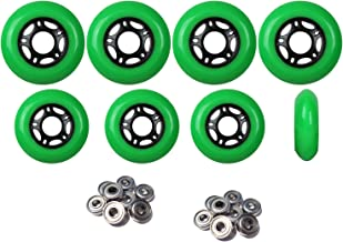 Player's Choice Outdoor Inline Skate Wheels 76mm/80mm Grn Hilo Roller Blade Hockey ABEC 9 Bearings