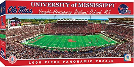 MasterPieces NCAA Mississippi Ole Miss Rebels, Stadium Panoramic Jigsaw Puzzle, Vaught Hemmingway, 1000 Pieces